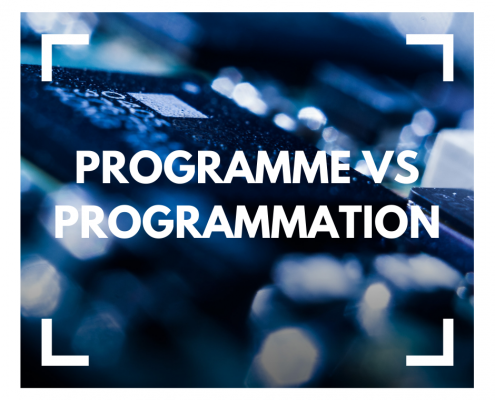 Programme vs programmation à la une